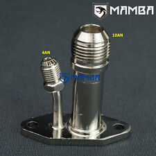 MAMBA Garrett GT22 GT25 VNT VGT Turbo Oil Feed 4AN & Return Flange Adapter 10AN