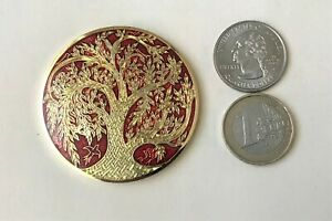 ☆ TOL geocoin Tree of Life Scavok VHTF Red / Gold Unactivated