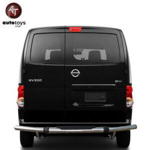 ATU Fit 13 20 NV200 Stainless Rear Bumper Guard Protector Single Tube W/ Pad