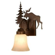 Moose Bath Burnished Bronze Sconce Wall Vaxcel Lighting Yellowstone VL55601BBZ