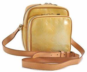 Auth Louis Vuitton Vernis Wooster Shoulder Cross Body Bag Yellow M91075 LV D2846
