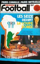 b)France Football 10/01/1978; Les 16 devant la coupe du monde/  PSg-OM