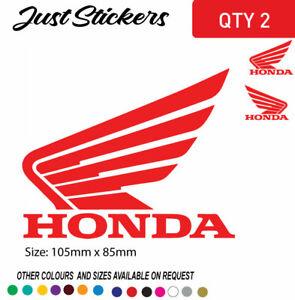 HONDA WING FUEL PETROL TANK STICKER DECAL VINYL MOTORCYCLE BIKE TRUCK CAR UTE