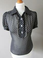 Marks and Spencer Spotted Collared Short Sleeve Women's Tops & Shirts