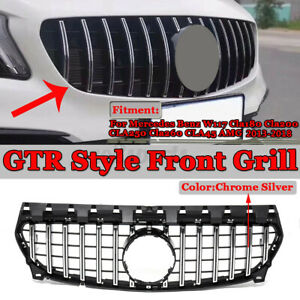 For Mercedes Benz C117 CLA200 CLA45 AMG 2017 2018 GT-R Look Front Grille Mesh