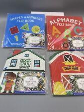 (4) New Felt Horizon Group Felt Learning Book - Shapes and Numbers Alphabet 3+