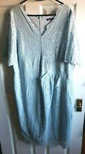 Marks & Spencer TWIGGY blue lace dress Size 20 NWOT FREE P&P