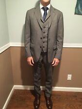 Z Zegna 3 Piece Suit, 100% Wool, Gray US Size 37