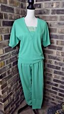American Weekend Women's Pants & shirt 2 PC outfit Green Size SMALL Vintage BE