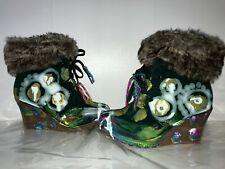 Boots STIEFEL 39 UNIQUE ethno boho psy goa hippie keil patchwork unikat designer