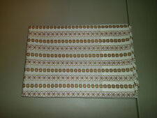 1-Brown & Purple Flowers/Decorated Squares King Size Pillowcase  New & Handmade!
