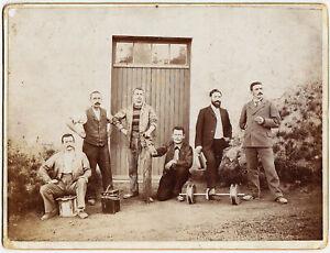 Kopenhagen, Gothergade, Mitarbeiter des Elektrizitätswerkes, Fotographie um 1895