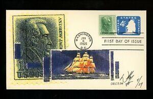 US FDC #U549 William II Cachet 4/29 Old Ironsides Ship Andrew Jackson 1/6/1965