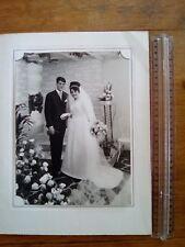 ancienne PHOTO COUPLE MARIAGE STUDIO guiraud angers