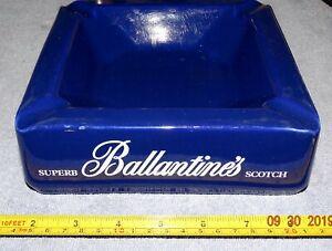 ASHTRAY COLLECTORS -   MASSIVE GLAZED EARTHENWARE ASHTRAY - BALLANTINE'S SCOTCH
