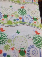 Fat Quarter Animal Friends Cotton Quilting Fabric - Michael Miller