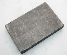 Graphite Electrode Carbon Block Mold Rectangle Pattern Glass Blow 14.1x9.3x2cm