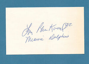 Lyle Blackwood - Dolphins, Colts, Bengals 1970 -1976  Signed 3 x 5 Card