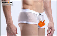 Boxer taille L blanc résille transparent Manview by NEOFAN sheer sexy Ref M06