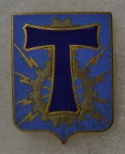 TRANSMISSION - ORIGINAL Vintage FRENCH ARMY SIGNAL COMMUNICATIONS BADGE INSIGNIA