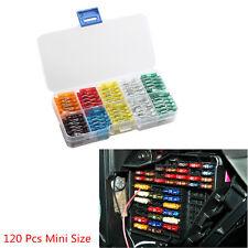 120 Pcs Mix Car Auto 5 7.5 10 15 20 25 30 AMP ATM APM Mini Low Profile Fuse Box