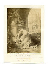 GRETCHEN PAINTING BY KAULBACH ENGRAVED BY RAAB, ALBUMEN OF ARTWORK.