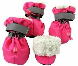 INDOOR Anti Slip Dog Shoes Pet Puppy Boots Booties Fleece Lined Soft Breathable