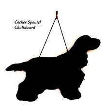 "English Cocker Spaniel Gift - Unique 12"" Handmade Dog Breed shaped Chalkboard"