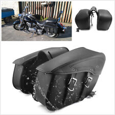 Pair PU Leather Motorcycle Saddle Luggage Bags For Harley Sportster XL 883 1200