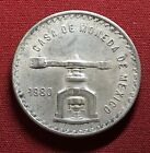( Better HUGE )-1980 Mexico 1 Onza SCALE - World Silver Coin