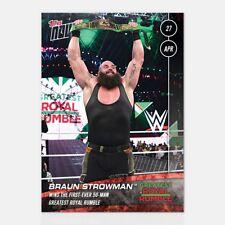 2018 Topps NOW WWE Braun Strowman Greatest Royal Rumble Belt Saudi Arabia WWF