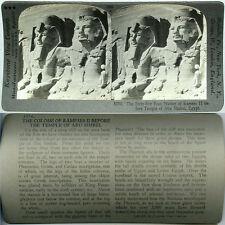Keystone Stereoview Statues of RAMSES II, Temple of Abu, EGYPT 600/1200 Card Set