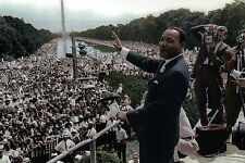 "Martin Luther King Jr. Gives "" I Have a Dream "" Speech Lincoln Memorial Postcard"