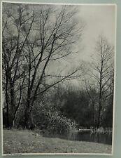PHOTO D'ART DE 1957 . LAC DE NIEDANGE DE G.TEISENTZ .29x39 cm. SNAPSHOT VINTAGE