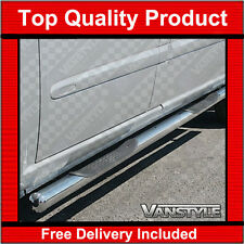 MERCEDES VITO W639 COMPACT & LONG VAN POLISHED STAINLESS STEEL SIDE BARS 4 STEPS