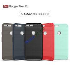 For Google Pixel / XL 360° Protective Shockproof Carbon Fiber Brush Case Cover