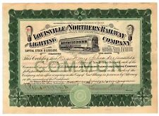Louisville and Northern Railway and Lighting Company Stock Certificate