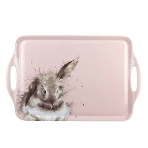 Wrendale Designs Serving Tray Rabbit Bathtime Themed in Melamine from Pimpernel