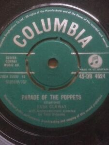 """1961 RUSS CONWAY 7"""" - PARADE OF THE POPPETS / LULU - COLUMBIA DB4624"""