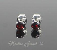 Unbranded Red Sterling Silver Fine Earrings