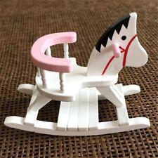 1:12 Dollhouse Miniature Furniture Children Room Wooden Horse Rocking Chair