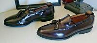 Allen Edmonds Grayson 8297 Burgundy Leather Tassel Loafers Dress Shoes Size 10 C