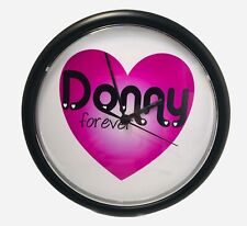 Donny Osmond 10� Donny Forever Purple Heart wall clock- works