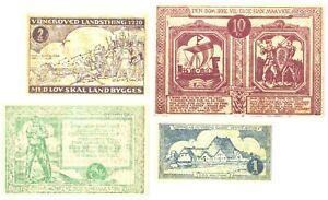 Denmark Haderslev 1927 NOTGELD emergency local issue FULL set(4 notes) watermark