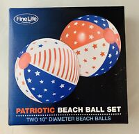 Pool Float Balls, Swimming Pool Beach Balls, Large Patriotic Beach Ball Set Of 2