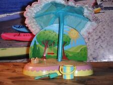 Fisher Price Loving Family Dollhouse Blue Umbrella & Sand Box Shovel Bucket Lot