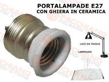 PORTALAMPADE E27 CON GHIERA IN CERAMICA