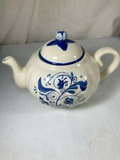 Blue Larkspur hand painted tea pot -  Estate find - preowned