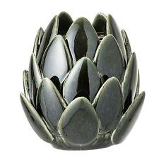 Bloomingville Vase JOELLE Keramik dunkelgr?n Artischocke Zapfen Windlicht Blumen