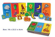 Fun Factory Wooden Magnetic Picture Alphabet Book Match Game Educational Toy